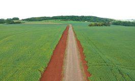 Obra de pavimentação do trecho de Novo Horizonte até Curvado está concluída
