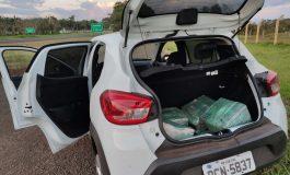 PRF prende homem transportando 93 quilos de maconha em veículo roubado na BR-277