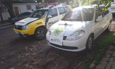 Rotam recupera dois veículos furtados e prende uma condutora em Guaíra