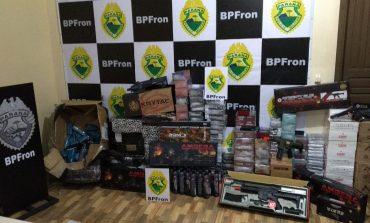 BPFron apreende contrabando, veículo e embarcação em Guaíra