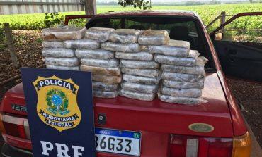 PRF apreende 30 quilos de crack e prende condutor do veículo na fronteira