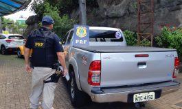 PRF prende jovem e recupera veículo furtado que estava sendo levado para o Paraguai