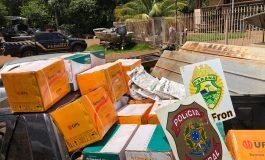 Operação Hórus apreende, em Guaíra, 280 quilos de defensivos agrícolas contrabandeados