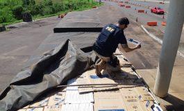 PRF apreende cerca de R$ 3 milhões em cigarros contrabandeados na Ponte Airton Senna, em Guaíra