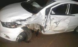 Colisão frontal, hoje (18), envolve veículos de Marechal Rondon e Pato Bragado, com três feridos
