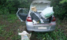 Após acidente, traficante abandona veículo e 131 quilos de maconha no interior de Quatro Pontes