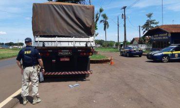 Com apoio da PM, PRF apreende 1 milhão de carteiras de cigarros em duas carretas no Paraná