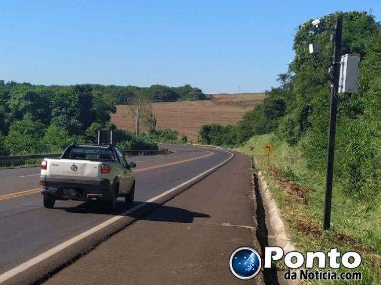 Radar é reinstalado na BR-163, entre Mercedes e Guaíra