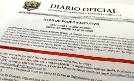 Inscrições para Concurso Público em Marechal Rondon estão abertas a partir de hoje (7)