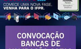 Bancas de validação das cotas do processo seletivo de estudantes do IFPR ocorrem durante esta semana