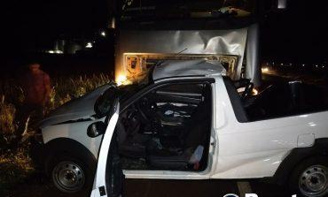 Mulher morre e homem fica em estado grave em acidente na BR-163, entre Mercedes e Guaíra
