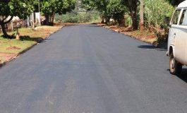 Prosseguem as obras de asfaltamento no Ciprestes e Paraíso em Marechal Rondon