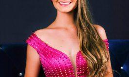 Miss Mercedes Eduarda Van de Sand se prepara para o Miss Paraná