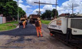 Obras no bairro Marechal estão tendo sequência com asfaltamento de ruas