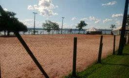 Praças esportivas do parque de lazer de Porto Mendes estão sendo preparadas para o Verão Maior