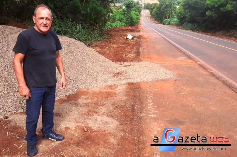Vereador Portinho fiscaliza obra do anel viário de Marechal Cândido Rondon