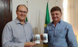 Gerente do Sicredi realiza visita ao prefeito de Nova Santa Rosa
