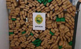 BPFron prende dois por tráfico na fronteira com 278,5 quilos de maconha
