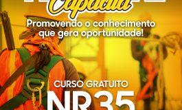 Prefeitura rondonense abre inscrições para mais uma turma do curso gratuito NR35