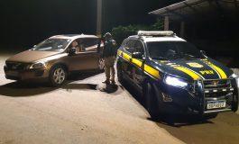 PRF de Céu Azul recupera veículo roubado no Rio Grande do Sul e prende condutor procurado pela Justiça