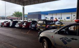 PRF e Receita Federal interceptam comboio de contrabandistas na divisa entre Paraná e MS