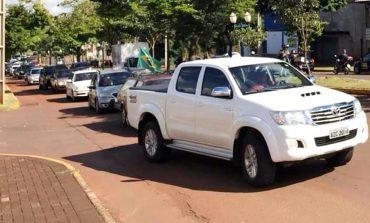 Carreata pela reabertura do comércio de Marechal Rondon reúne centenas de veículos