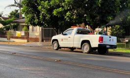 Carros do fumacê continuam em ação em Marechal Rondon
