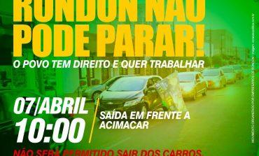 Carreata pela reabertura do comércio de Marechal Rondon tem saída às 10h, em frente à Acimacar