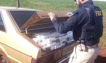 PRF prende homem com Corcel 82 carregado de cigarros contrabandeados em Guaíra (PR)