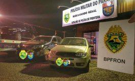 BPFron apreende veículos carregados com cigarros contrabandeados; ação ocorreu em Guaíra e Novo Sarandi