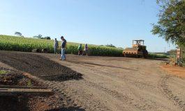 Mercedes: Obras de pavimentação asfáltica na Linha Sanga Mineira são retomadas