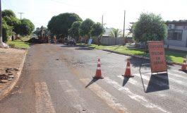 Obra de revitalização da Avenida Dr. Mário Totta segue em andamento em Mercedes