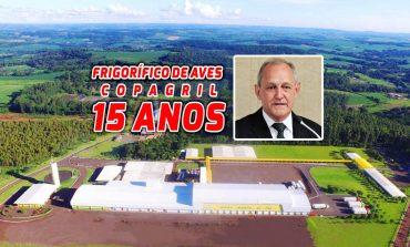 Portinho presta homenagem à Copagril pelos 15 anos do frigorífico de aves em Marechal Rondon