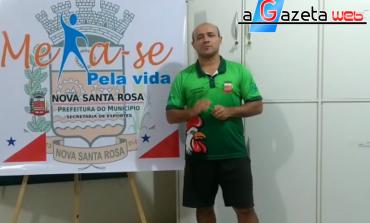 Projeto Mexa-se pela Vida estreia com o desafio da semana à população de Nova Santa Rosa e toda a região
