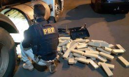 PRF encontra 1 tonelada de maconha escondida em carreta na BR-163, em Guaíra