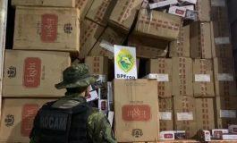 BPFron realiza mais uma apreensão de cigarros e deixa prejuízo de R$ 1,3 milhão aos criminosos