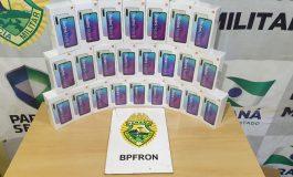 BPFron realiza apreensão de malas com eletrônicos do Paraguai em Cascavel