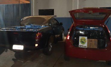 BPFron apreende dois veículos com cigarros contrabandeados do Paraguai em São Miguel do Iguaçu