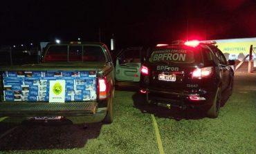 BPFron apreende veículo carregado com cigarros contrabandeados em Quatro Pontes
