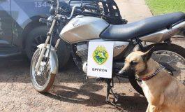 BPFron recupera motocicleta furtada em Marechal Cândido Rondon