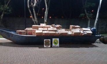 Operação Hórus: Policiais apreendem, em Marechal Rondon, embarcações e caminhão com contrabando avaliados em R$ 2 milhões
