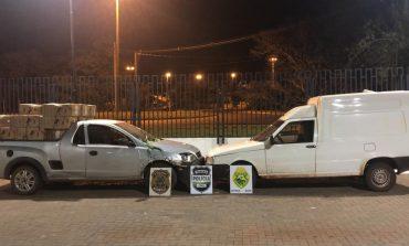 Policiais da Operação Hórus apreendem dois veículos com cerca de 100 caixas de cigarros paraguaios