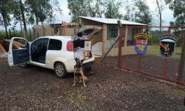 BPFron apreende carro com cigarros em Marechal Rondon