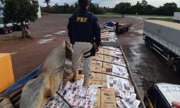 PRF apreende R$ 3 milhões em cigarros contrabandeados