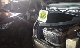 BPFron na Operação Hórus apreende contrabando que tinha acabado de entrar no País pelo Rio Paraná