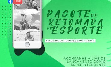 Live para anunciar o Pacote de Retomada do Esporte no Paraná ocorre hoje (9), a partir das 15h