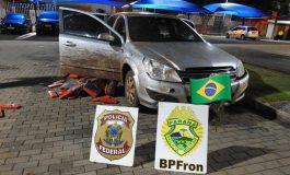 Ação Integrada do BPFron e PF resulta na apreensão de 565 quilos de maconha em Francisco Alves