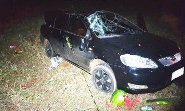 Polícia Rodoviária Estadual de Marechal Cândido Rondon registra capotamento de veículo na PR-317