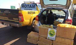 Rotam apreende veículo carregado com 350 quilos de maconha em Pato Bragado
