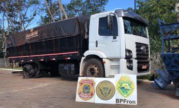 Operação Hórus: polícia prende uma pessoa em flagrante e apreende caminhão com cigarros